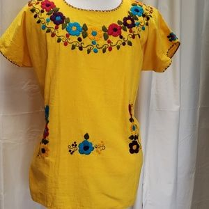 Yellow Mexican blouse